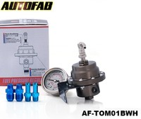 AUTOFAB-JDM Universal high-performance Fuel Pressure Regulator With White Oil Gauge Type-L AF-TOM01BWH