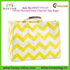 2014 Trendy Fashion Summer Cotton Canvas Monogrammed Chevron Tote Bags