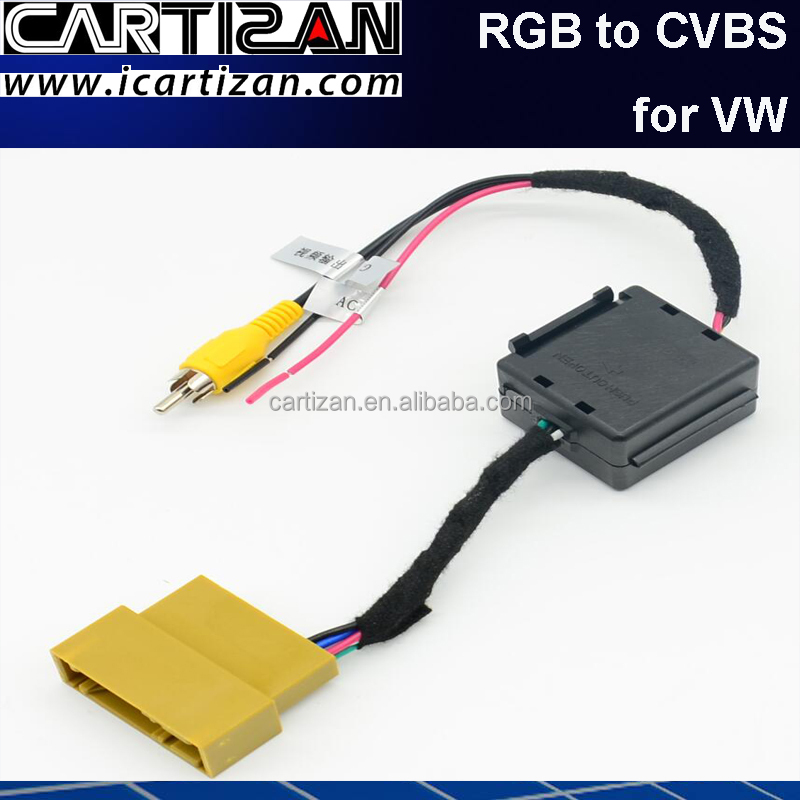 Camera Connection cable CVBS to RGB converter for VW RNS 315 510 810 850