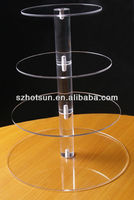 clear 4 layers acrylic party cake stand/plexiglass cup cake holder