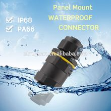 Series 707 M5 4 pin waterproof circular connector front panel mount , M5 connector