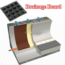 100% Virgin Waterproof Drain Board HDPE Dimple Sheet for Tunnel