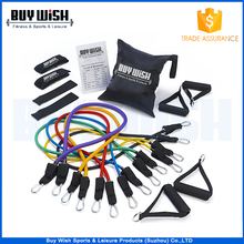 Resistance Bands Set with Door Anchor, Handle, Ankle Strap, Resistance Tube Band for Fitness