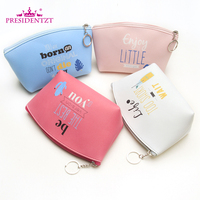 Promotional custom logo printing cosmetic make up bag for ladies ZT