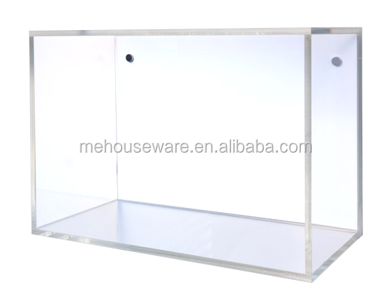 Clear acrylic new trend wall mounted plastic storage box book shelf