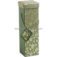Recycle cardboard wine gift box with lid