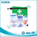China manufacturer mini green first aid kit, portable emergency first aid kit