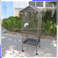 Factory Supplied wire mesh bamboo bird cage