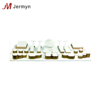 Custom high end jewelry display stand set wooden jewelry display