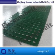 Farman customized industrial pvc/pu conveyor belt with punching <strong>hole</strong>