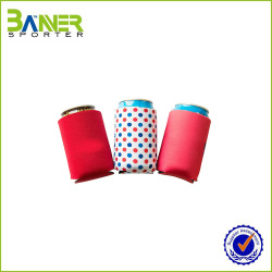 Neoprene folding can cooler / collapsible can cooler / beverage stubby holder