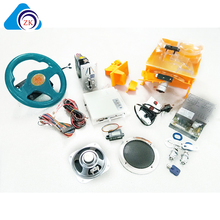 Top Quality 31 in 1 racing car machine with wheel Full kit for diy children arcade games
