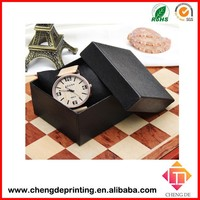 custom cardboard square or round empty gift watch box brand