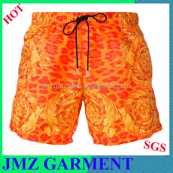 2017 wholesale men swim shorts orange men swimwear