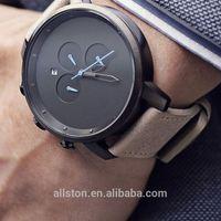 chronograph japan movt quartz Low MOQ Watches distributor, genuine leather watch
