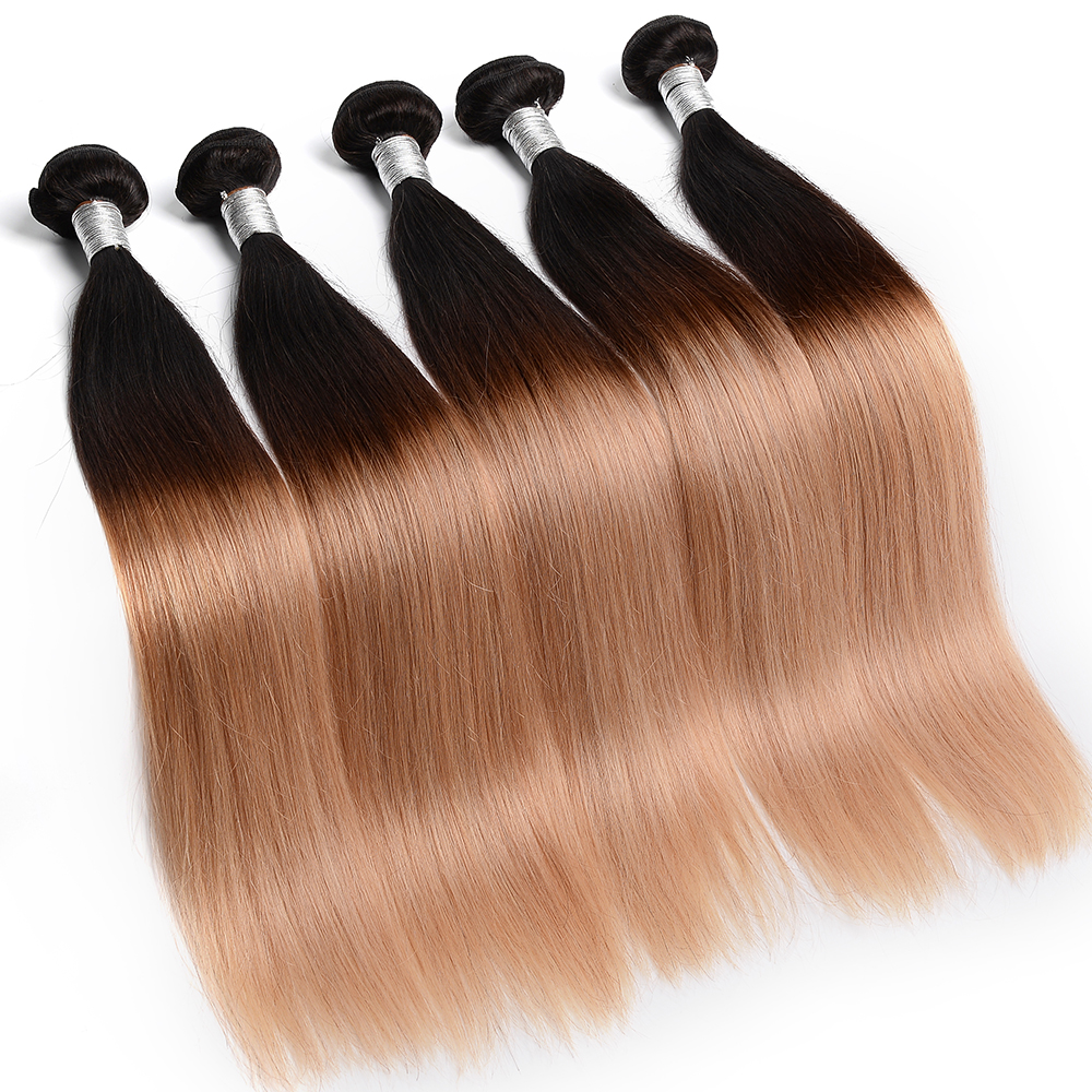 Cheap Price Brazilian Hair Extension 3 Tone Color Ombre Hair Weaves