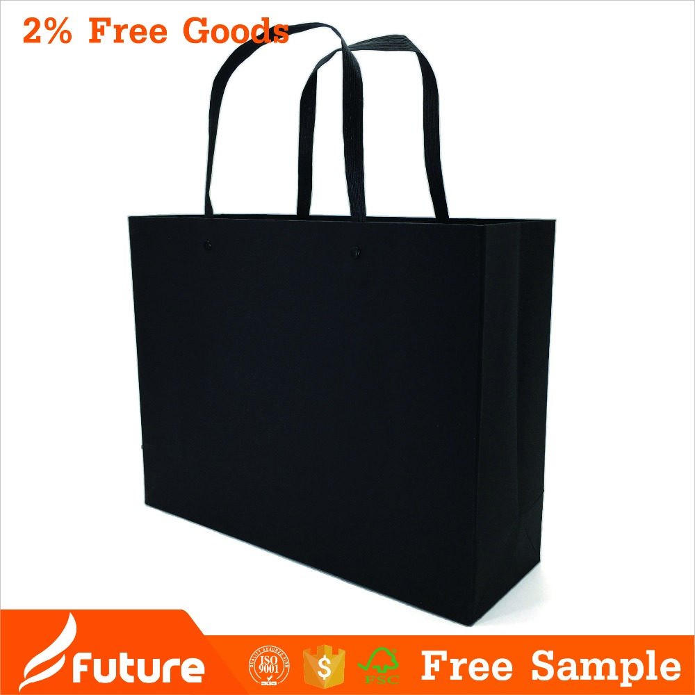 wholesake black paper handle rivet gift paper <strong>bags</strong>