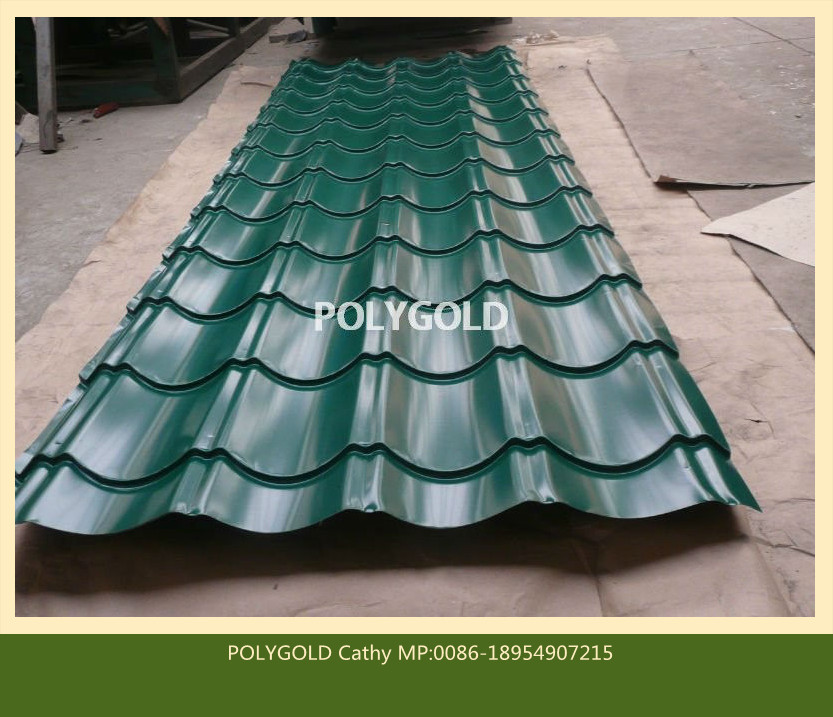 New building construction materials/ Color glazed steel sheet roofing tile