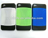 PC hard case cover for iphone 4, mesh pc decoration