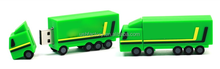 Pvc Truck USB Flash Drive 256mb, Green custom usb flash drives pens, Car Shaped USB lorry sticks memory thumb