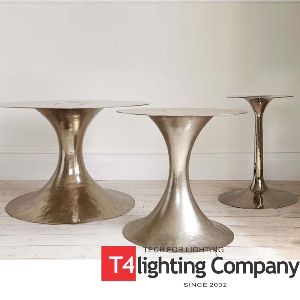 Cast aluminum high table china new base coffee cheap table metal legs