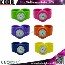top selling wholesale price silicone cartoon dial slap kid watch in alibaba