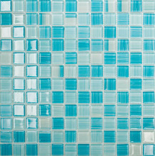hot-sale blue glass mosaic tiles for swimming pool