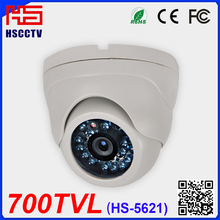 700TVL 24pcs ir leds vandalproof plastic cctv sony color ccd dome infrared camera domo