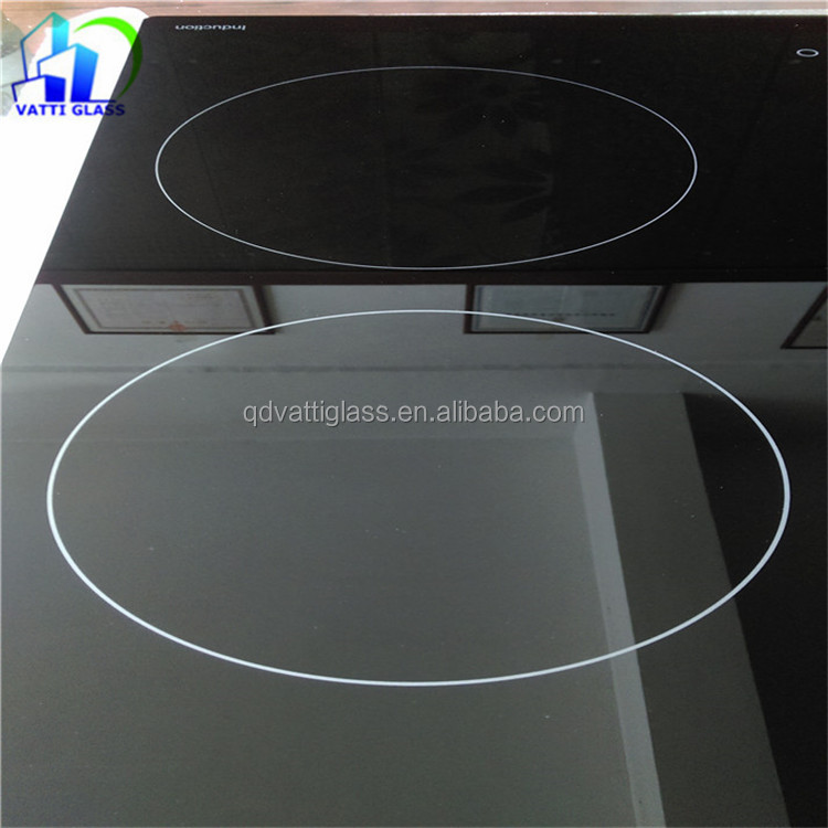 heat resistant glass ceramic cooktop/cooktop ceramic glass/silk printed ceramic glass cooktop covers