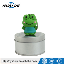 Best sell 2016 OEM usb cable mini high speed cute Frog USB 2.0 / 3.0 Wristband 32gb USB flash Drive for gift