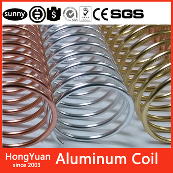 Wide range of color choices Gold Color Coated Aluminum Coil,Popular China Aluminum Binding Coil