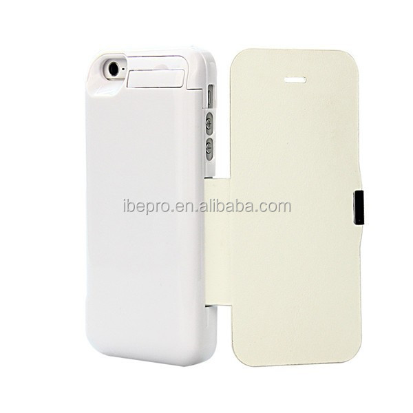 New 4200mAh Li-polymer External Battery Leather Cover Case for iPhone 5