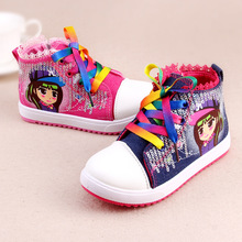 top quality children girl lace canvas sports shoes/sf breathable kid sports shoes/amazing sports shoes