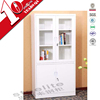 Knock down 2 glass door file storage shelf cabinet / swing door metal book cabinet shelf cabinet