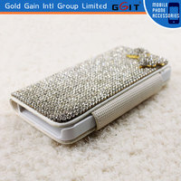 Luxury Full Bling Diamond Wallet Case with Card Slots for IPhone 5S Diamonds Case