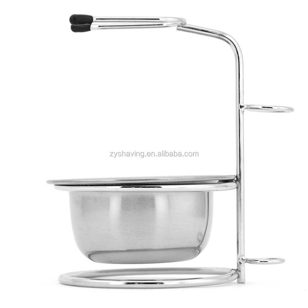 ZY Stainess Steel Barber Shaving Brush Stand Razor holder With Bowl