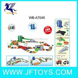 battery operate railway train toys tracking set have over 288pcs tracks and 2 cars