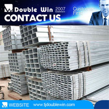 Cnina manufacturer pre-galvanized ERW square and rectangular gi rion steel pipes for EMT ductile