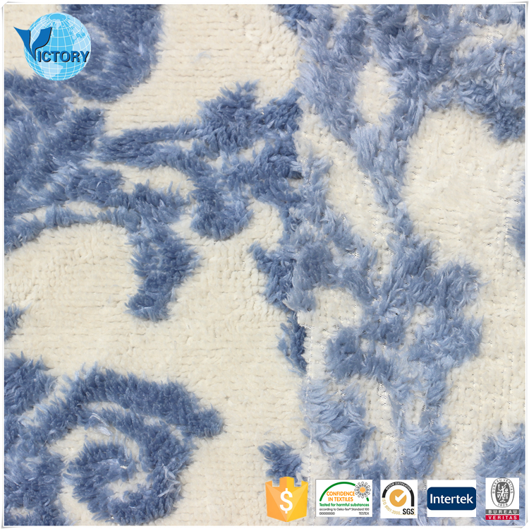 Wholesale Double Sides Sherpa Weft Knitted Yarn Dyed 100 Polyester Jacquard Curtain Fabric