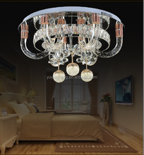 European LED Energy-saving Crystal Lamp Living Room Hotel Ceiling Light American High-end Modern Light