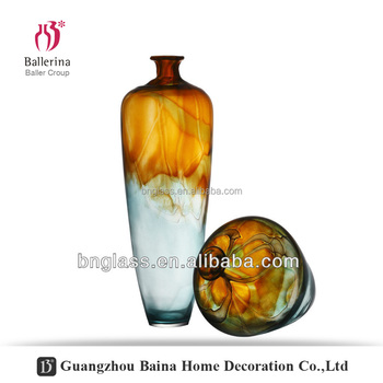 Modern Fancy Centerpieces Handmade Month-blown flower Glass Home decor Vase
