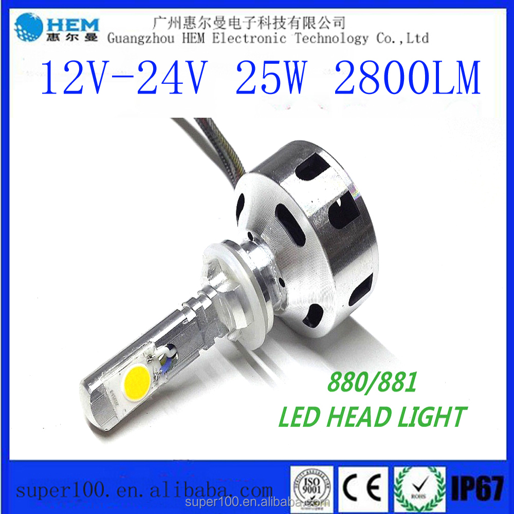 Toyo.tal Hilander High power 25W 2800Lm COB LED Car Headlight 880