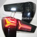 For TOYOTA Innova LED Tail Lamp 2015-2016 year Color YZ Black