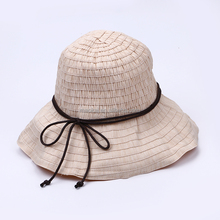 Folding Sun Hat With Ribbons Bucket Hat Straw Hat