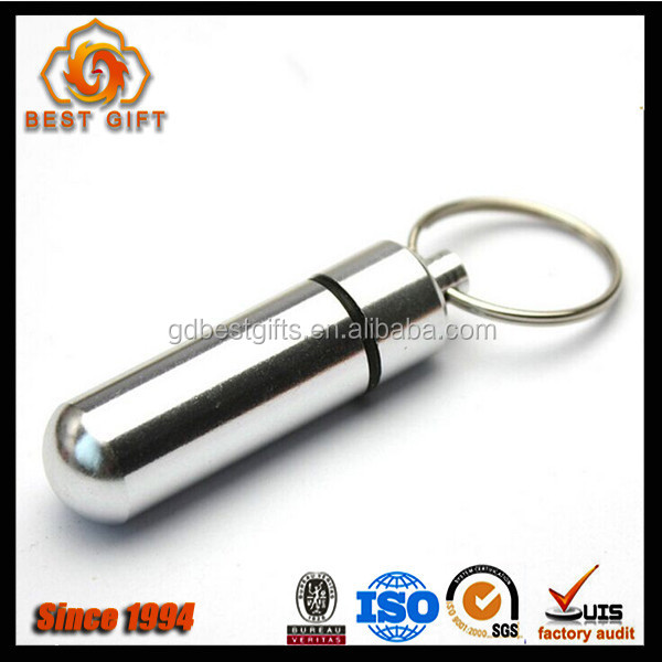 Mini First Aid Pill Keychain Medicine Storge Box Key Chain