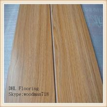 8mm random length royalty cheap laminate flooring 3-strip HLS-007 125*24MM ISO,CE certificate,SGS report