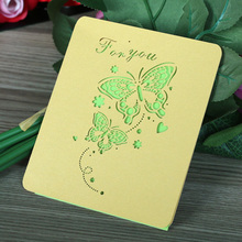 Small Size Cheap Wholesale Thank You Greeting Card Embossed Postcard Clear Greeting Card Boxes