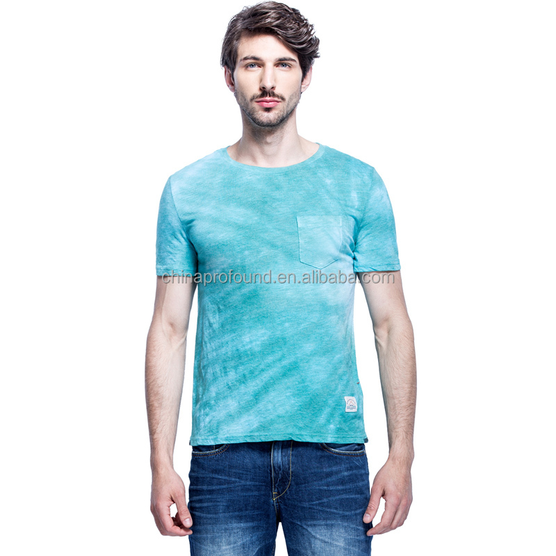 new design pocket tee shirts custom print tie dye t-shirt wholesale dye sublimation t-shirt printing