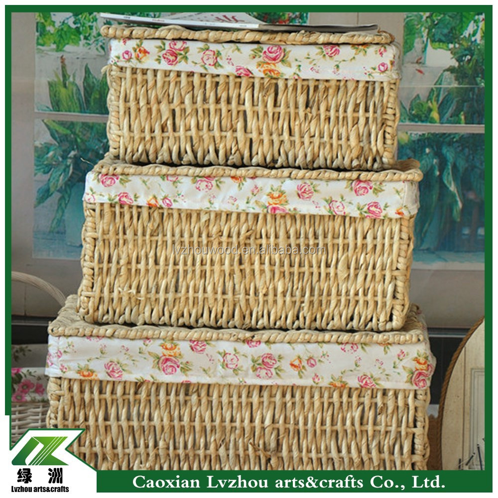handmade laundry basket with cover,new design laundry basket
