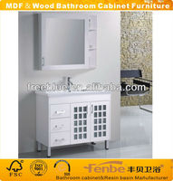 Classic Wood & MDF bathroom furniture with mirror cabinet